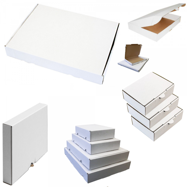 Maxibriefkarton 240 x 160 x 45 mm - Weiß