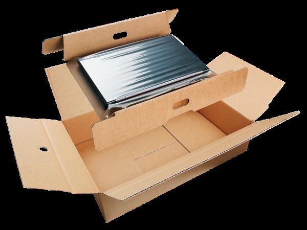 """Folienfixierverpackung für 17"""" und 19"""" Laptops Lapsnap 440x322x92 mm"""