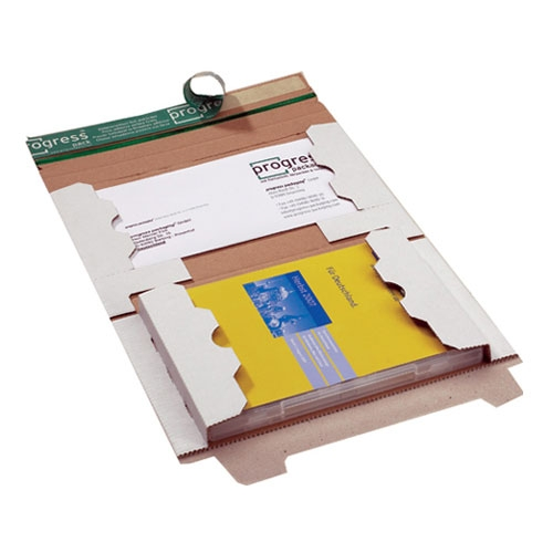 DVD-Mailer Vollpappe 239x146x24 mm Weiß