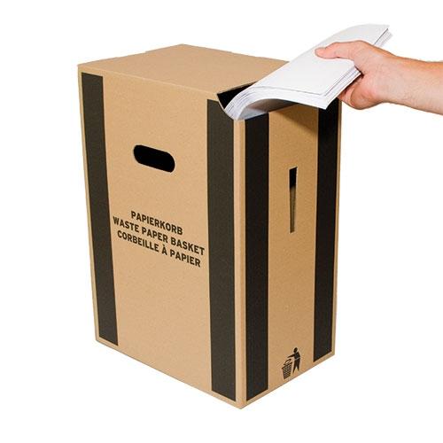 Papierkorb aus Karton 340x235x480 mm
