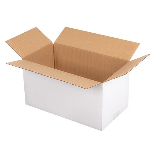 Faltkarton 400x300x300 mm - 1-wellig - Weiß