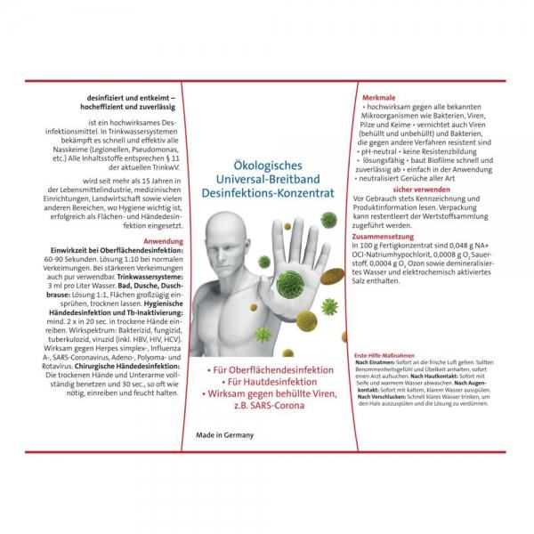 Desinfektionsmittel Universal-Breitband Haut-Hände - Flächendesinfektion 1L