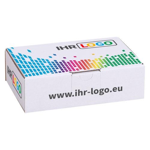 Maxibriefkarton mit Digitaldruck 160x110x50 mm - Weiß