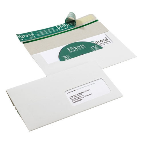CD Mailer 224x127x4,6 mm Fenster Rechts Weiß