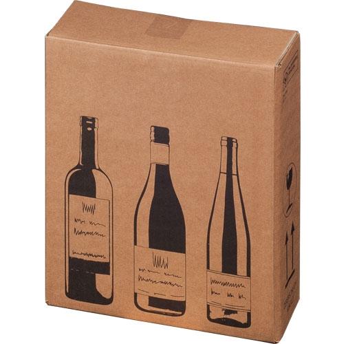 Flaschenkarton 3er 305x108x368 mm