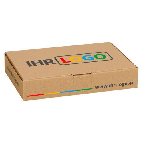 Maxibriefkarton mit Digitaldruck 240x160x45 mm - Braun