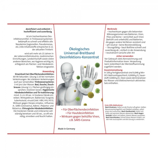 Desinfektionsmittel Universal-Breitband Haut-Hände - Flächendesinfektion 500 ml