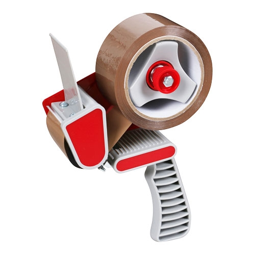 Klebebandabroller Packbandabroller mit Bremse - Rot