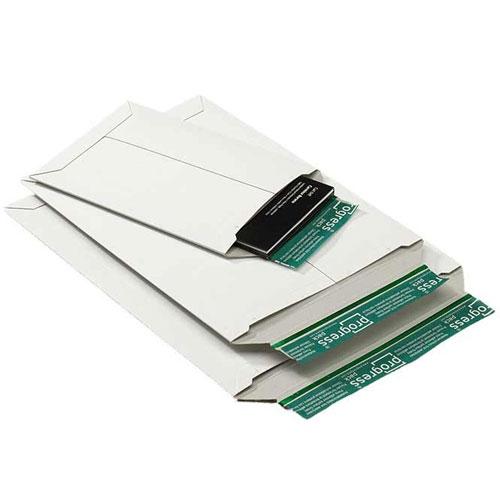 Versandtasche aus Vollpappe 269x214x-32 mm Weiß