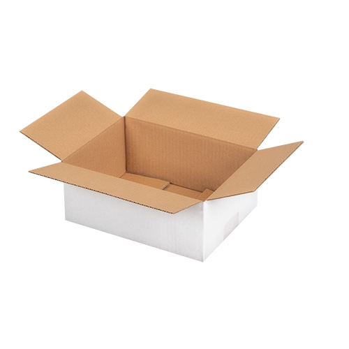 Faltkarton 190x150x140 mm - 1-wellig - Weiß