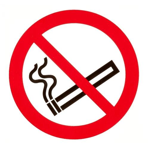 Rauchen verboten Folie selbstklebend Ø 100 mm