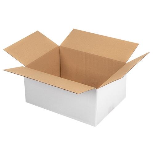 Faltkarton 330x240x160 mm - 1-wellig - Weiß