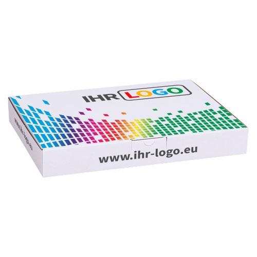 Maxibriefkarton mit Digitaldruck 320x225x50 mm - Weiß