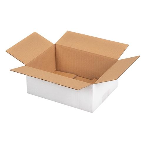 Faltkarton 250x175x100 mm - 1-wellig - Weiß