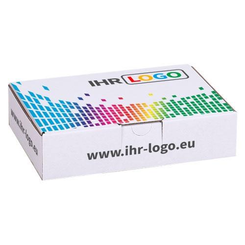 Maxibriefkarton mit Digitaldruck 180x130x45 mm - Weiß