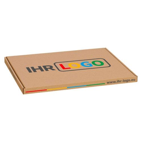 Großbriefkarton mit Digitaldruck 350x250x20 mm - Braun