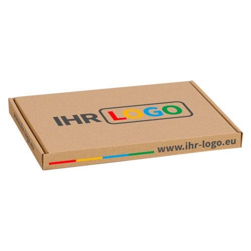 Großbriefkarton mit Digitaldruck 230x160x20 mm - Braun