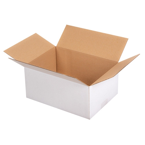 Faltkarton 300x215x140 mm - 1-wellig - Weiß