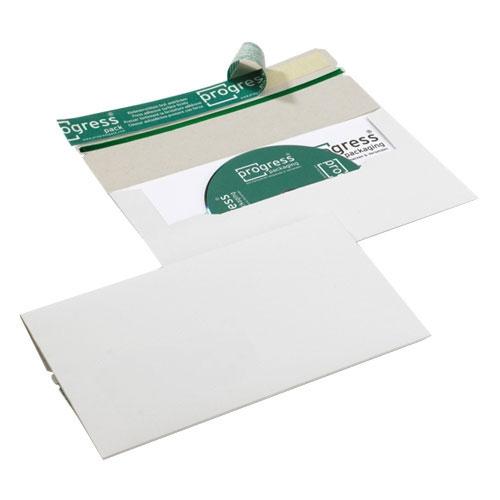 CD-Mailer 224x127x4,6 mm ohne Fenster Weiß