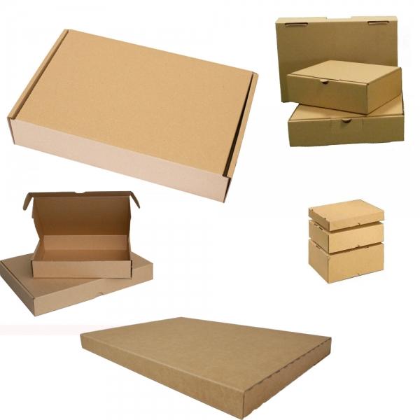 Maxibriefkarton 180 x 130 x 45 mm - Braun