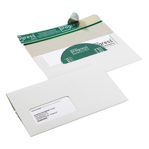 CD Mailer 223x123x4,6 mm Fenster Links Weiß