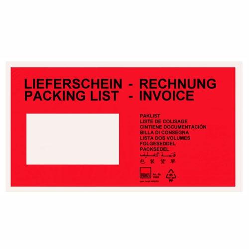 Lieferscheintaschen - Dokumententaschen Rot
