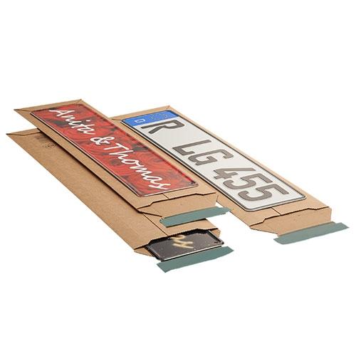 Versandtasche für KFZ-Kennzeichen 145x600x-55 mm