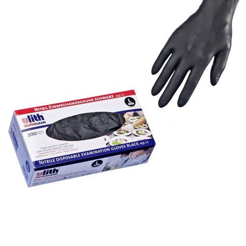 200x Einweghandschuhe Schwarz